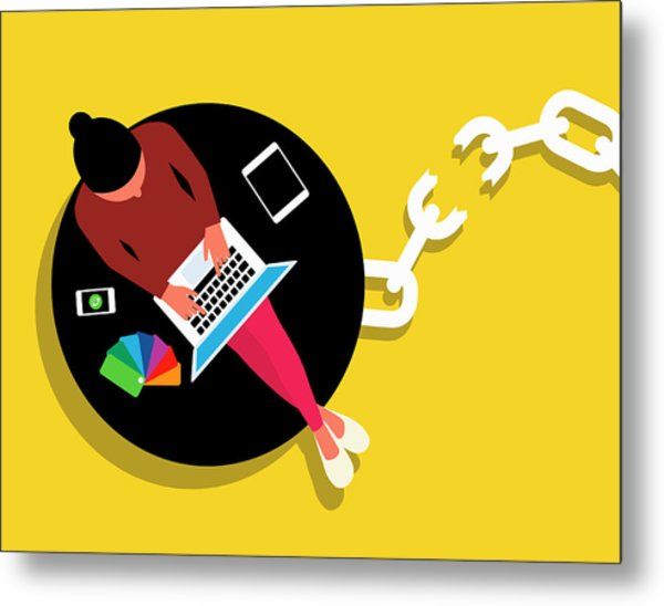 Wireless Technology Freeing Creative Metal Print by Ikon Images