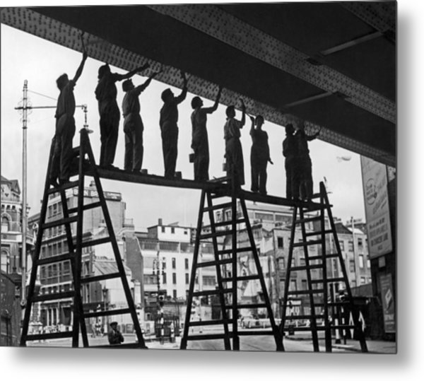 Women Paint Bridge Metal Print by Harry Shepherd
