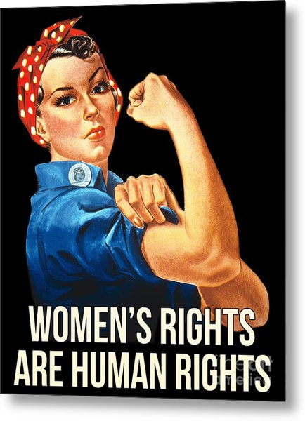 Metal Print featuring the digital art Womens Rights Are Human Rights Tshirt by Flippin Sweet Gear
