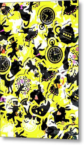 Wonderland Design Metal Print