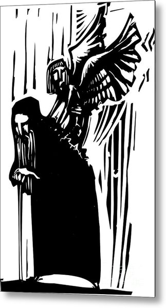 Woodcut Expressionist Style Image Of A Metal Print