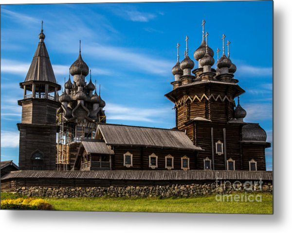 Wooden Architecture Nordic Countries Metal Print
