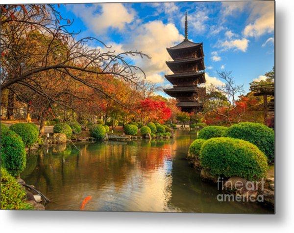Wooden Pagoda Of Toji Temple, Kyoto Metal Print