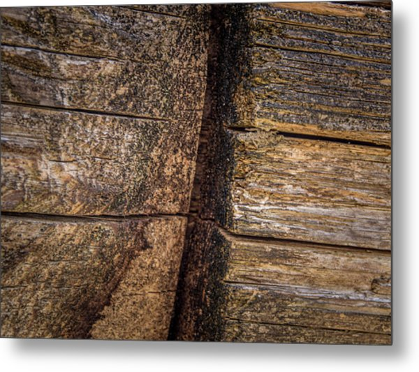 Wooden Wall Metal Print