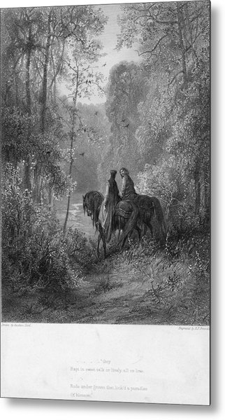 Woodland Lovers Metal Print by Hulton Archive