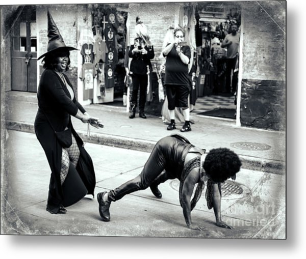 Working It On Bourbon Street New Orleans Metal Print