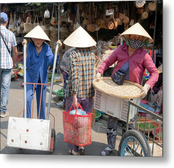 Working Women In Vietnam Metal Print