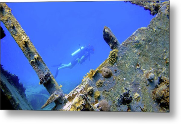 Wreck Framed Metal Print