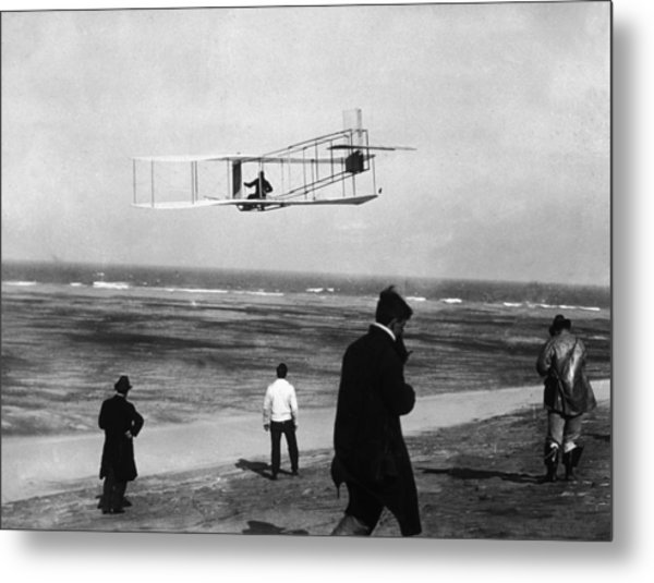 Wright Sets Gliding Record Metal Print by Percy T. Jones