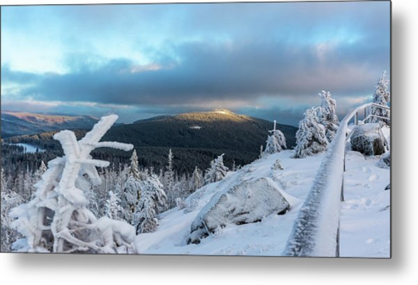 Metal Print featuring the photograph Wurmbergblick, Harz by Andreas Levi