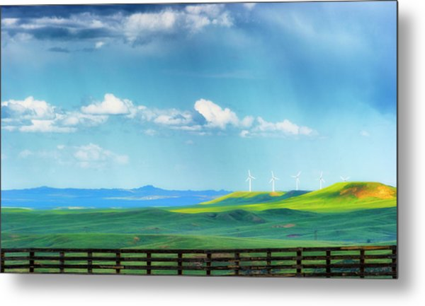 Wyoming Vast Landscape  Metal Print