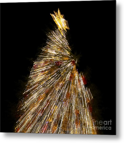 Xmas Tree Motion Art Metal Print
