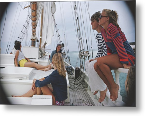 Yachting In Lyford Cay Metal Print