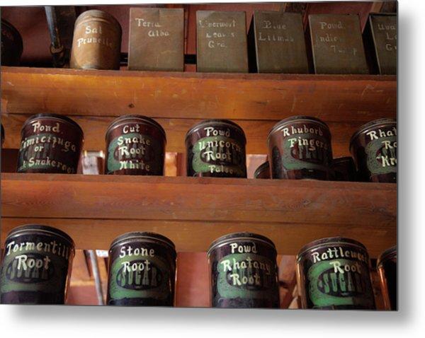 Ye Olde Time Pharmaceuticals Metal Print