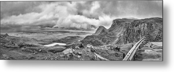 Yellow Autumn Panoramic Bw #i1 Metal Print