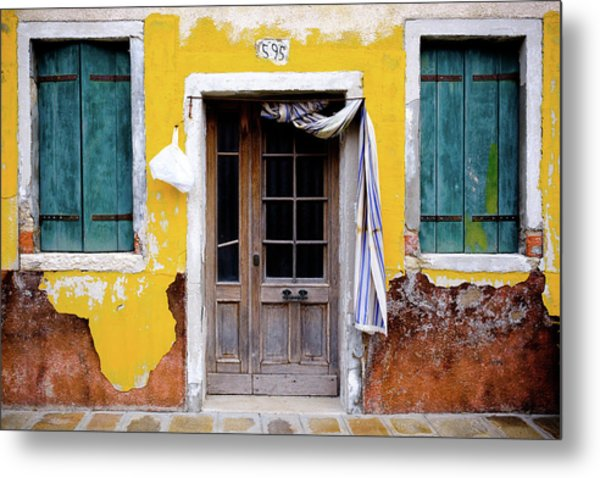 Metal Print featuring the photograph Yellow Doorway by Nicole Young