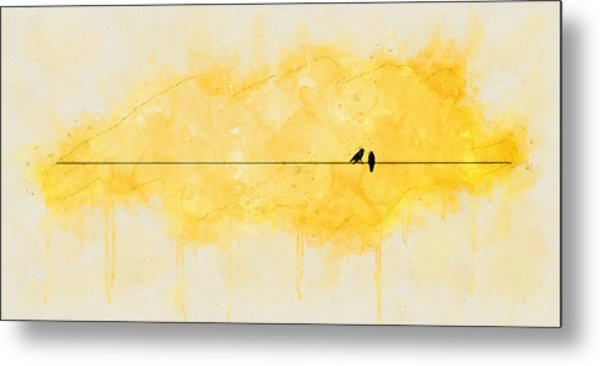 Yellow Sparrow Metal Print