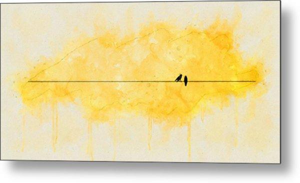 Yellow Sparrow Metal Print