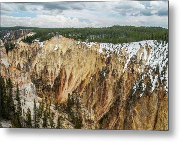 Metal Print featuring the photograph Yellowstone Canyon With Frosting by Matthew Irvin