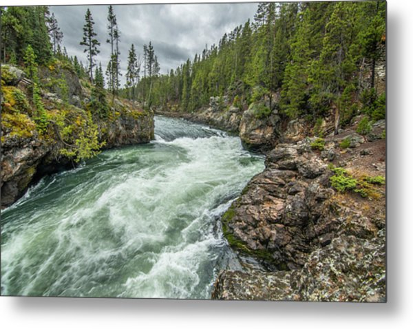 Metal Print featuring the photograph Yellowstone River Falling by Matthew Irvin