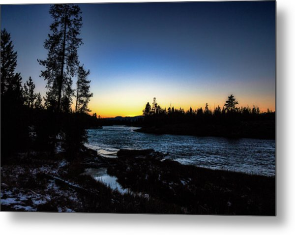 Metal Print featuring the photograph Yellowstone River by Pete Federico