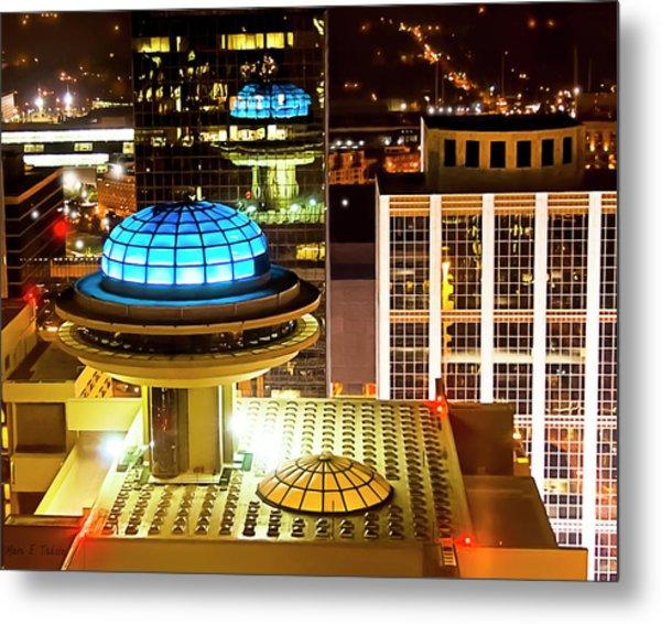 Yesterday's Future - Classic Atlanta Skyline Metal Print