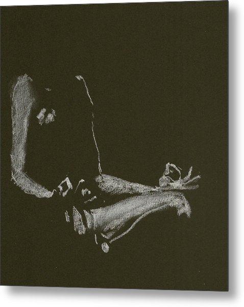Yoga Position Metal Print