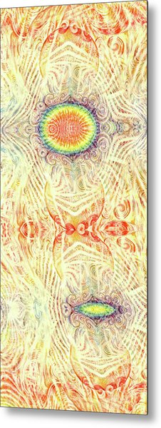 Yonic Rainbow Metal Print