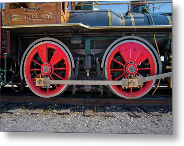 Metal Print featuring the photograph York 17 Steam Engine by Mark Dodd