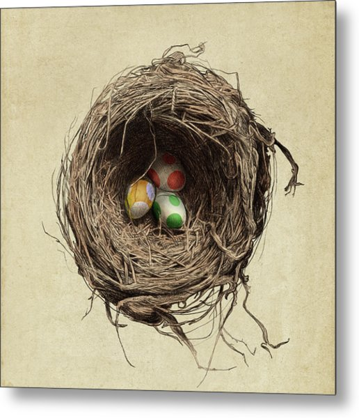 Yoshi Eggs Metal Print