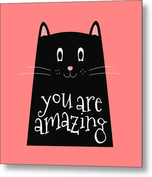 You Are Amazing - Baby Room Nursery Art Poster Print Metal Print