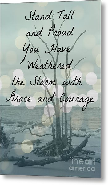 You Have Weathered The Storm Metal Print