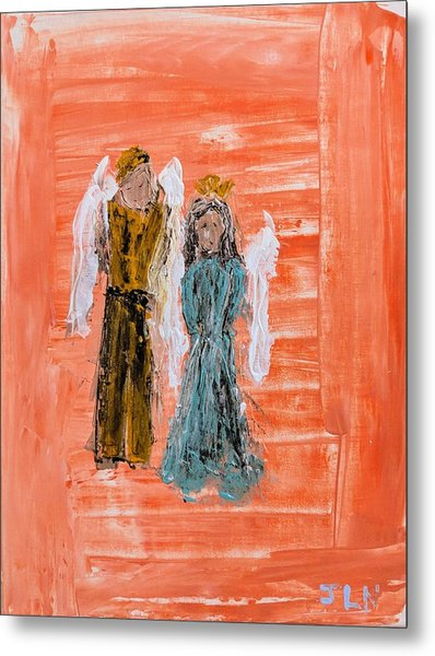 Young Love Angels Metal Print