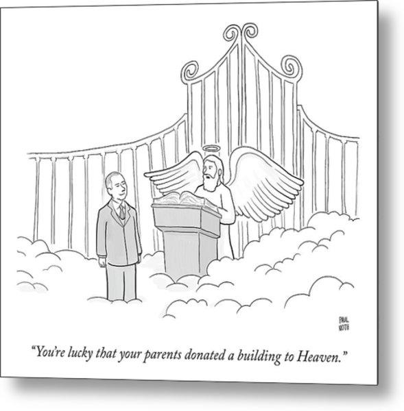 Your Parents Donated Metal Print
