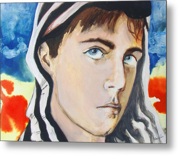 Metal Print featuring the painting Youth And Zebra Stripes by Rene Capone