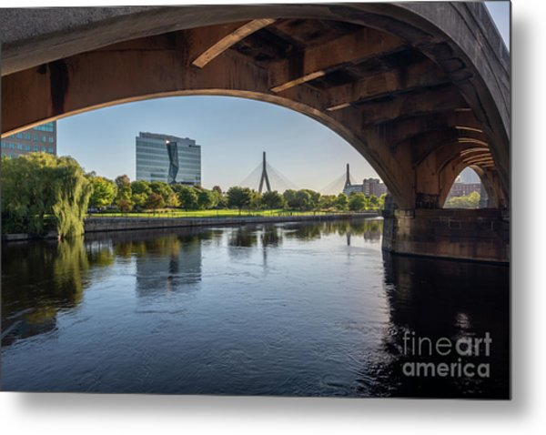 Zakim From The Charles Metal Print