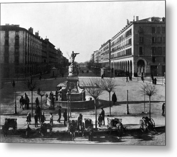 Zaragoza Fountain Metal Print by Hulton Archive
