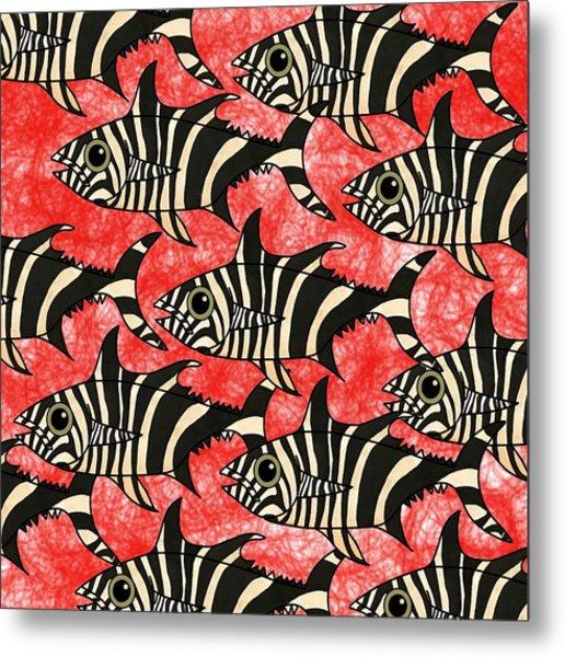 Zebra Fish 5 Metal Print