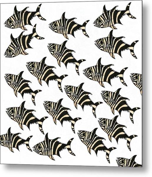 Zebra Fish 7 Metal Print