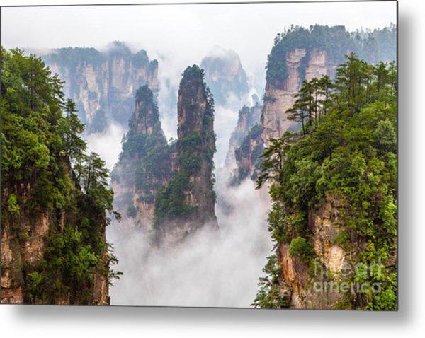 Zhangjiajie National Park In China Metal Print