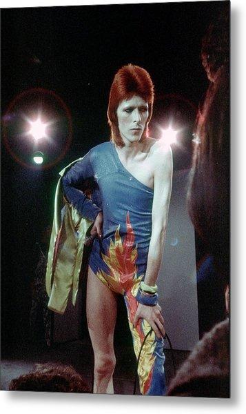 Ziggy Stardust Era Bowie Metal Print