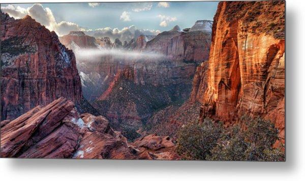 Zion Canyon Grandeur Metal Print