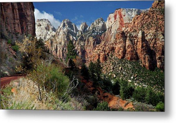 Zion Canyon Natural Beauty Metal Print