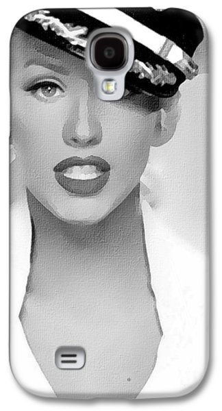 # 1 Christina Aguilera Portrait. Galaxy S4 Case by Alan Armstrong