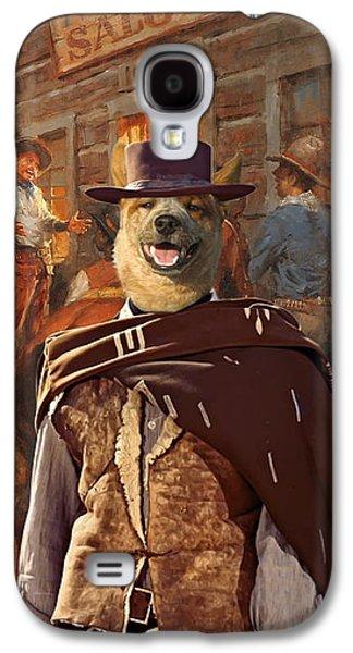 Australian Cattle Dog Art Canvas Print Galaxy S4 Case by Sandra Sij