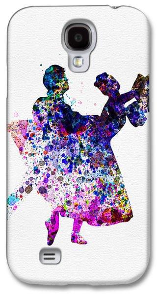 Ballet Dancers Watercolor 1 Galaxy S4 Case by Naxart Studio