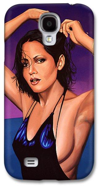 Barbara Carrera Painting Galaxy S4 Case