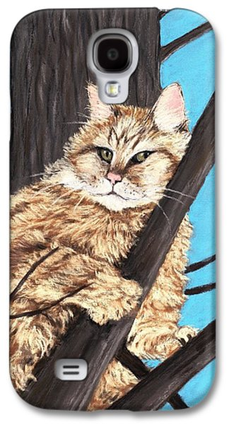 Cat On A Tree Galaxy S4 Case