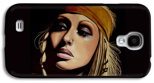 Christina Aguilera Painting Galaxy S4 Case