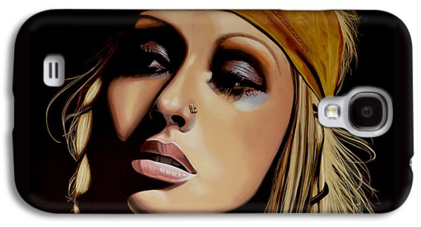 Christina Aguilera Painting Galaxy S4 Case by Paul Meijering
